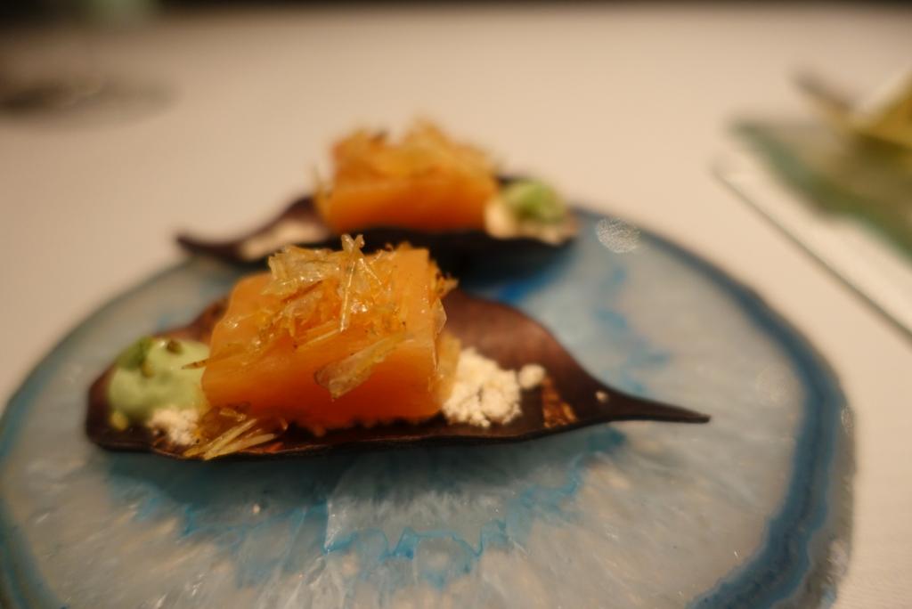 05 - JW Menu - Fish Finger & Pina Colada coconut pineapple & wasabi