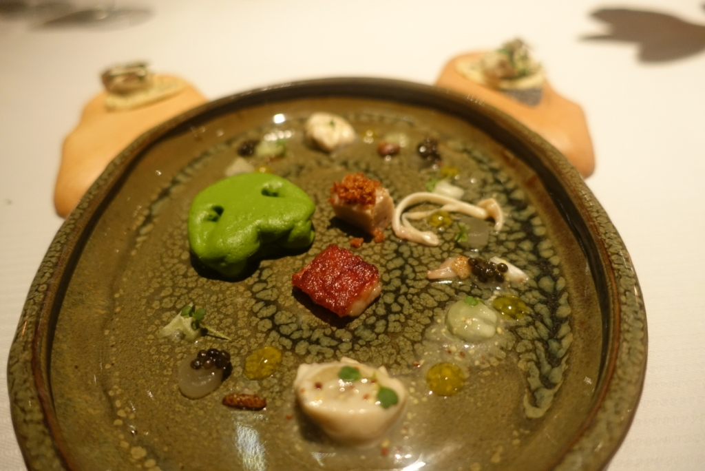 08 - JW Menu - Pork Snout sweet & sour Gillardeau oyster