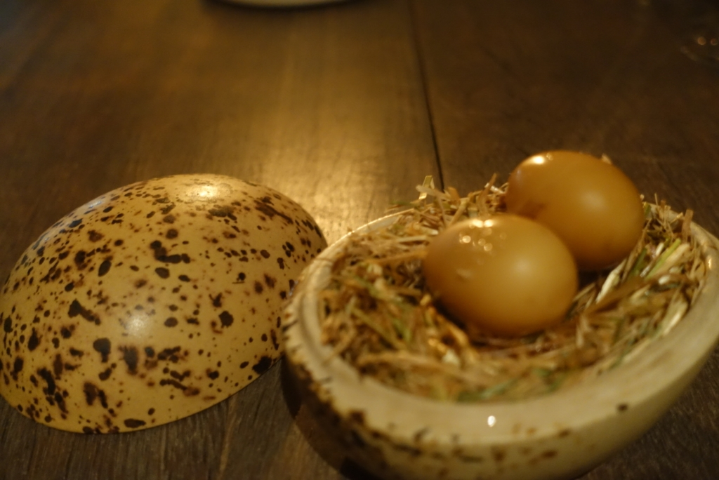 12 - Smoked and pickled quail egg