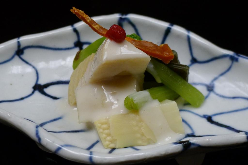 16 Nakamura - Bamboo with vegetables and Shirako sauce
