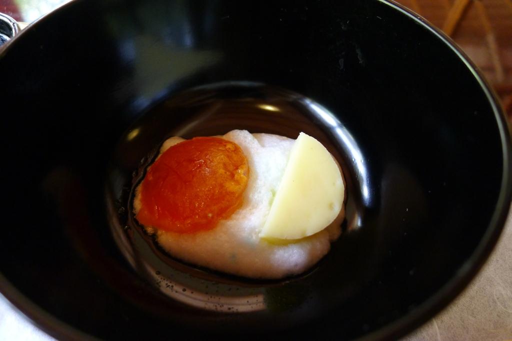 17 Shoraian - Egg yolk,  fish cake and foam