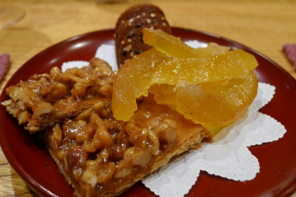 20 Shima - Candied Orange, Caramel Nut Tart, Sesame Cookie