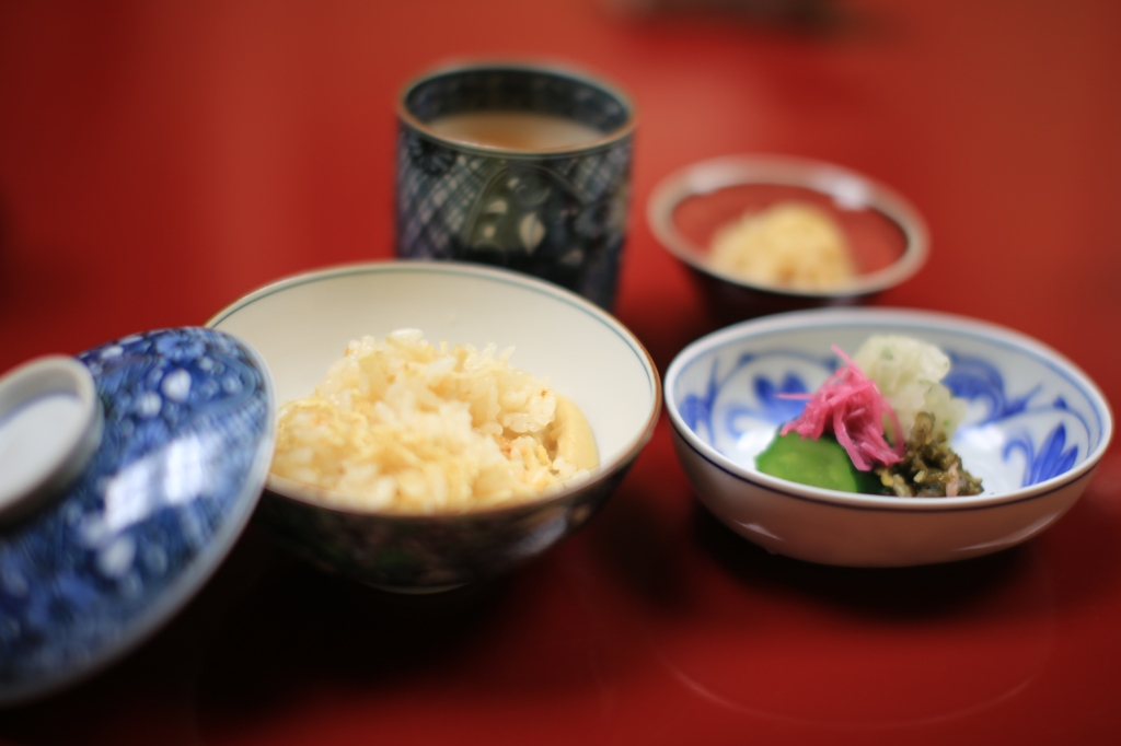 22 Nakamura - Rice, bamboo and pickled vegetables served with hot tea
