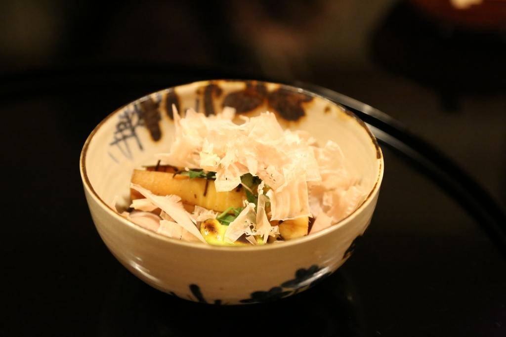 23 Kitcho Arashiyama Honten - Grilled bamboo shoot with kelp and bonito flakes