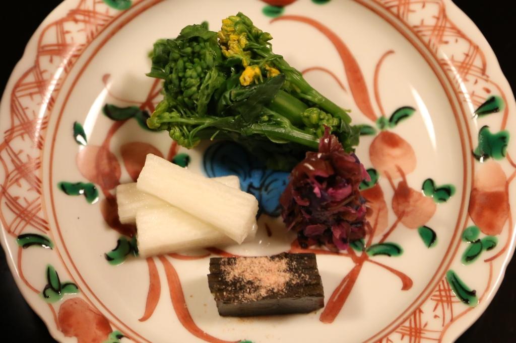 26 Kitcho Arashiyama Honten - Pickled vegetable - seaweed, eggplant, shisho leaf and cucumber
